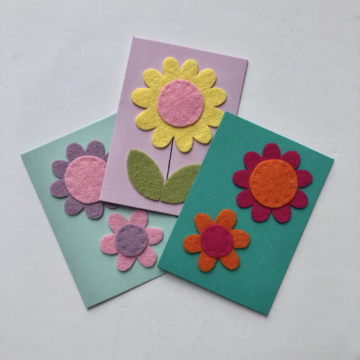 Handmade Felt Greeting Cards - The Village Haberdashery