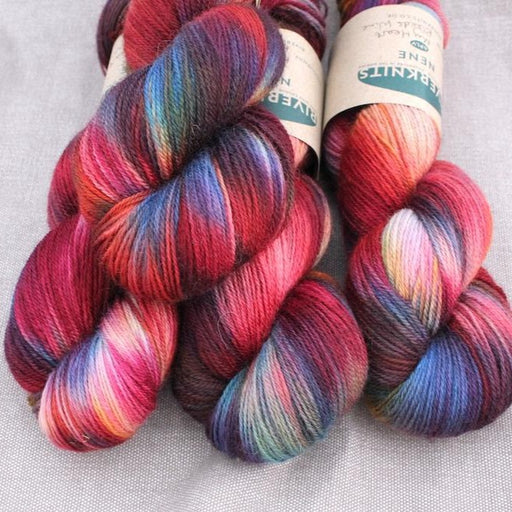 RiverKnits Nene BFL 4-Ply - My Heart Bleeds Wine - The Village Haberdashery