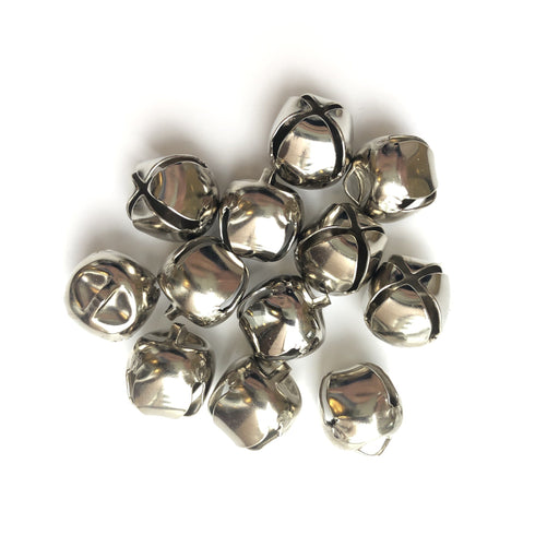 Silver Jingle Bells - 13mm - The Village Haberdashery