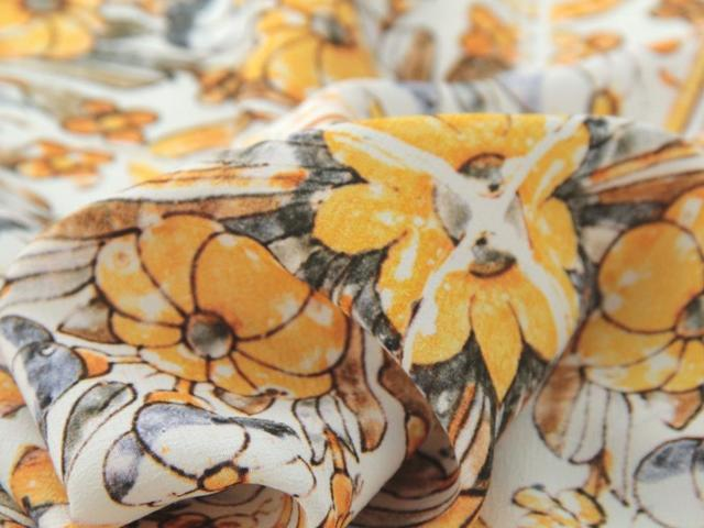 Yellow Loseta Viscose Crepe by Fabric Godmother - The Village Haberdashery