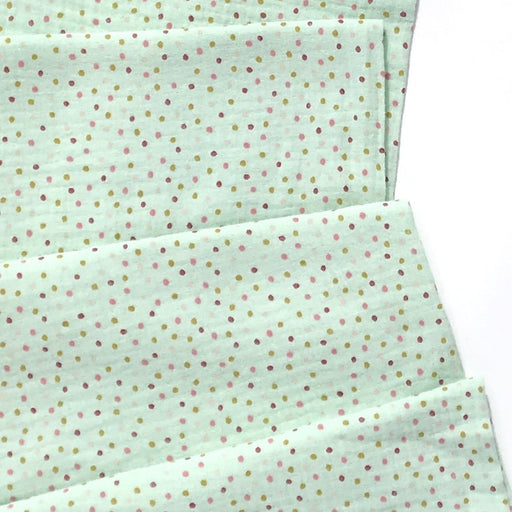 Mint Sweet Dots Organic Double Gauze