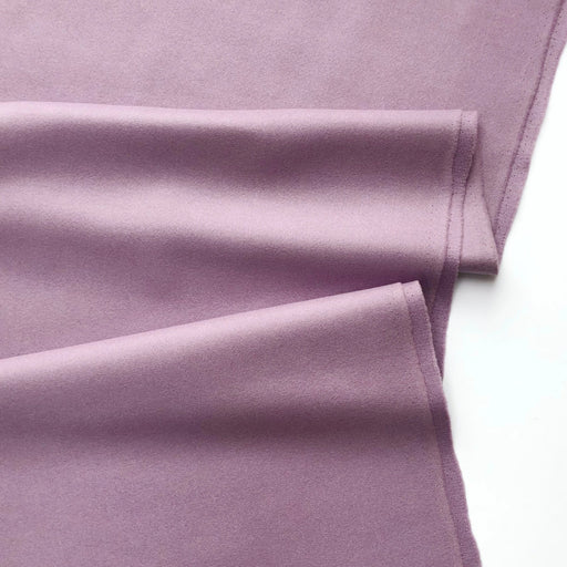 Dark Lilac Wool Blend Coating - The Village Haberdashery