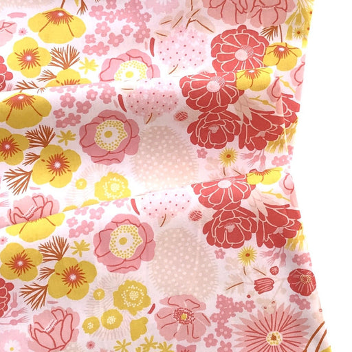 Pink Blooming Flowers Cotton from Prickly Pear by Emily Taylor - The Village Haberdashery