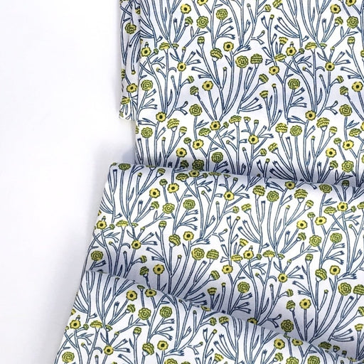 Blue Sun-Drenched Flowers Cotton from Prickly Pear by Emily Taylor - The Village Haberdashery