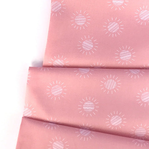 Pink Desert Suns Cotton from Prickly Pear by Emily Taylor - The Village Haberdashery