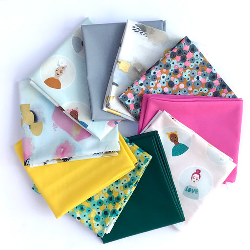 Girl's Club Fat Quarter Bundle by Piet en Kees for Cotton + Steel - The Village Haberdashery