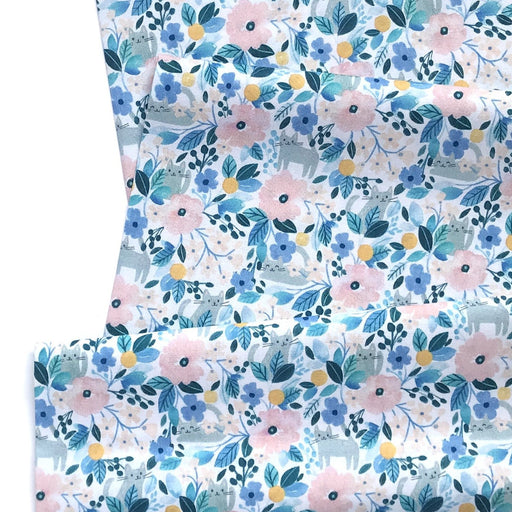 Multi Kitty Floral Cotton from Summer Lovin by Clara Jean