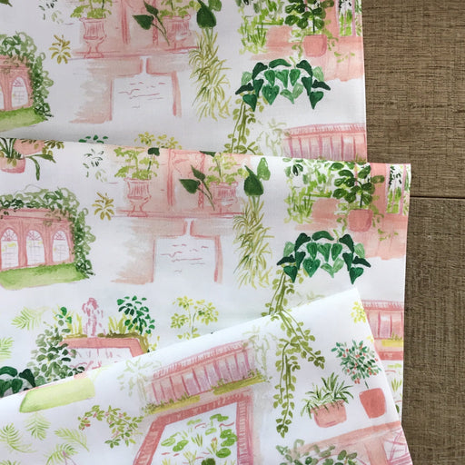 White Orangerie Cotton from Orangerie by Caitlin Wallace-Rowland