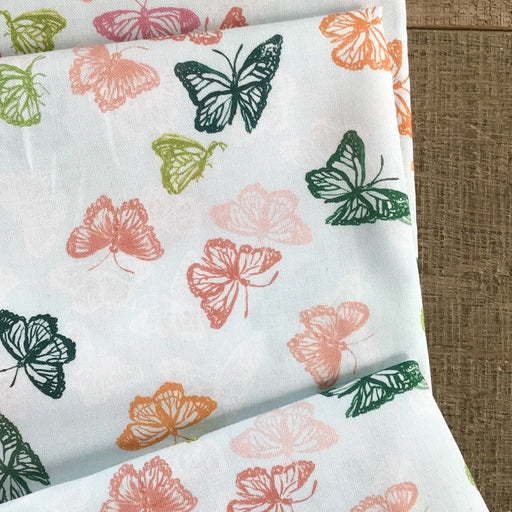 Harbour Butterflies Cotton from Orangerie by Caitlin Wallace-Rowland