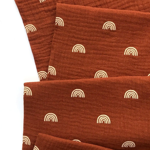 Rust Rainbows Organic Cotton Double Gauze
