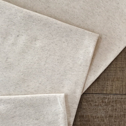 Natural Linen Cotton Blend French Terry
