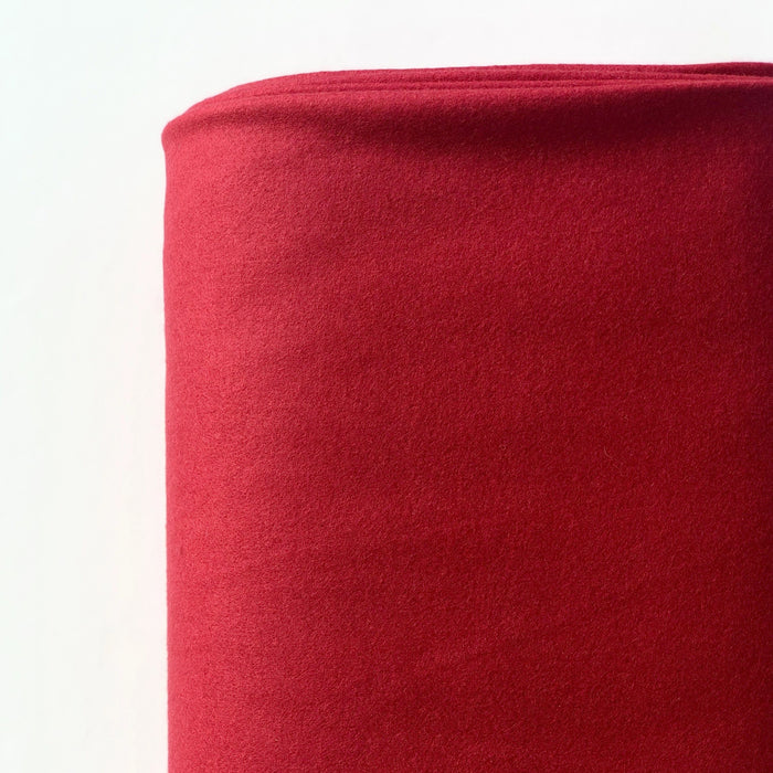 Red Wool Blend Coating - 160cm remnant - The Village Haberdashery