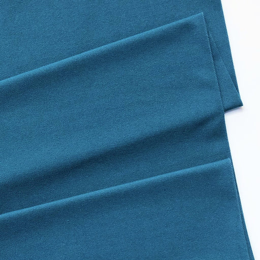 Teal Cotton Jersey Twill - The Village Haberdashery