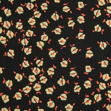 Black Bisou Floral Viscose Lawn by Fabric Godmother - The Village Haberdashery