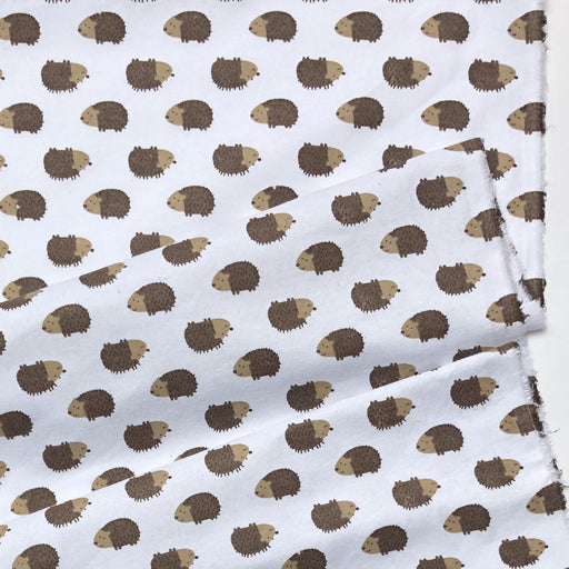 Hedgehog Brushed Cotton Flannel - The Village Haberdashery