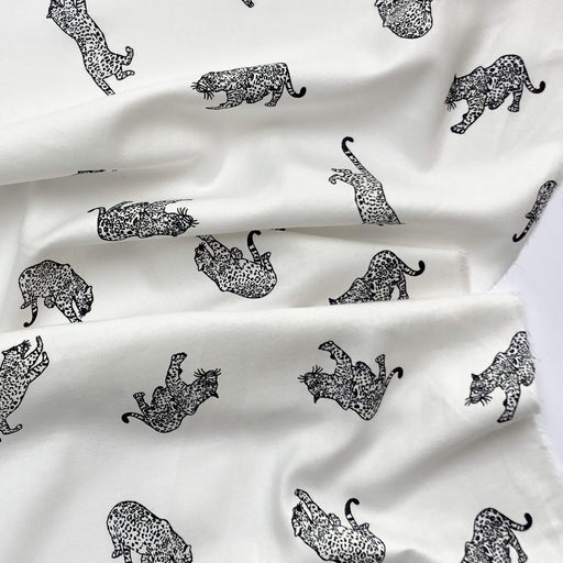 Leopard Brushed Cotton Flannel - The Village Haberdashery