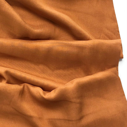 Turmeric Cross Weave Made with TENCEL™ Fibres - The Village Haberdashery