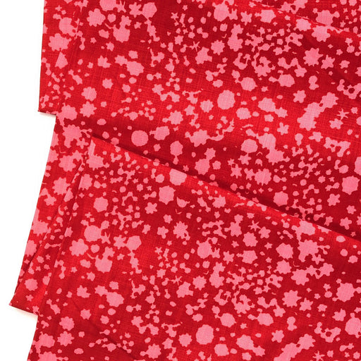 Speckled Pink and Red Cotton Canvas - The Village Haberdashery