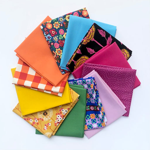 Sunday Flower Market Fat Quarter Bundle - December Modern Quilt Club Pick - The Village Haberdashery