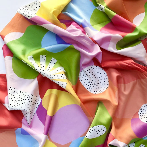 Summer Pastel Rainbow Exploration Cotton Sateen by Brook Gossen for Nerida Hansen - The Village Haberdashery