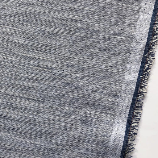 Striped Cotton in Dark Blue - The Village Haberdashery