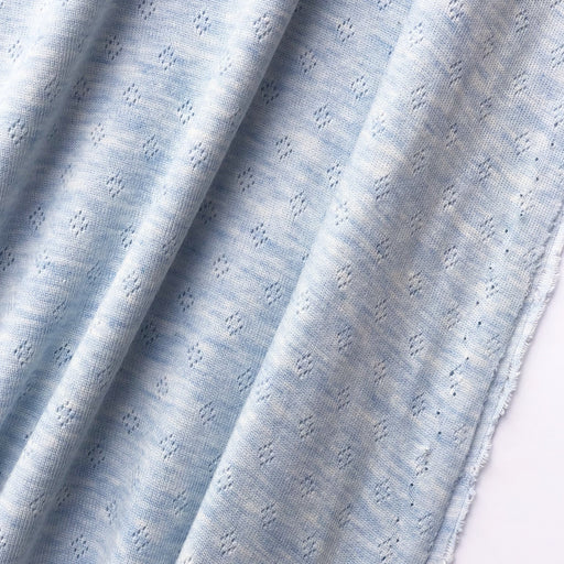 Pointelle Jersey - Light Blue - The Village Haberdashery