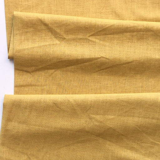 Enzyme Washed Linen - Ochre - The Village Haberdashery