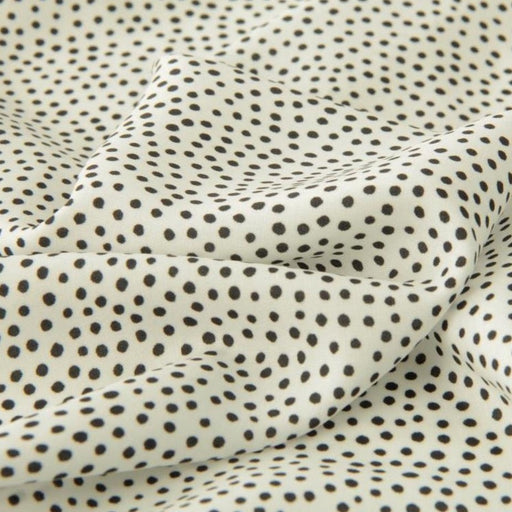 Dotty About Dots in Black on White Viscose by Lady McElroy - The Village Haberdashery