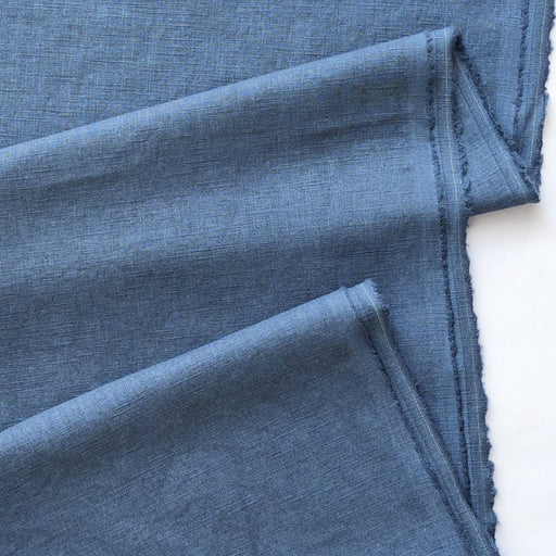 Enzyme Washed Linen - Blue - The Village Haberdashery