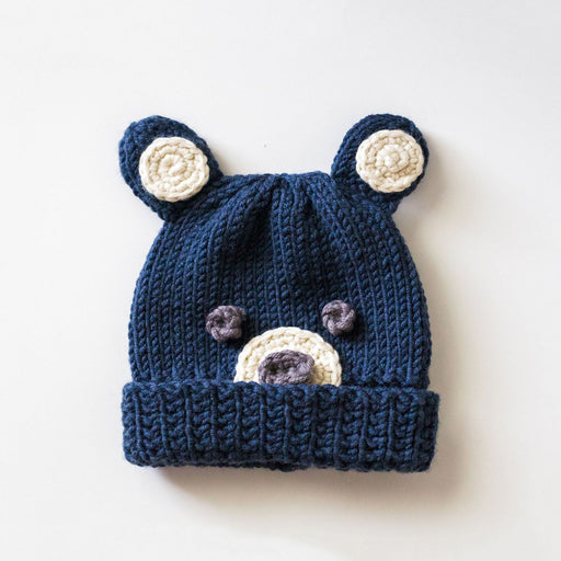 Woodlands Bear Hat Knitting & Crochet Kit by Stitch & Story - The Village Haberdashery