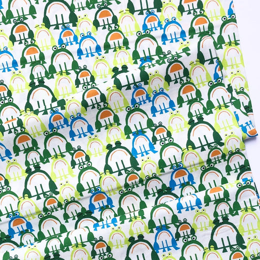 Frogs Organic Cotton from Favorites By Ed Emberley- 16cm Remnant