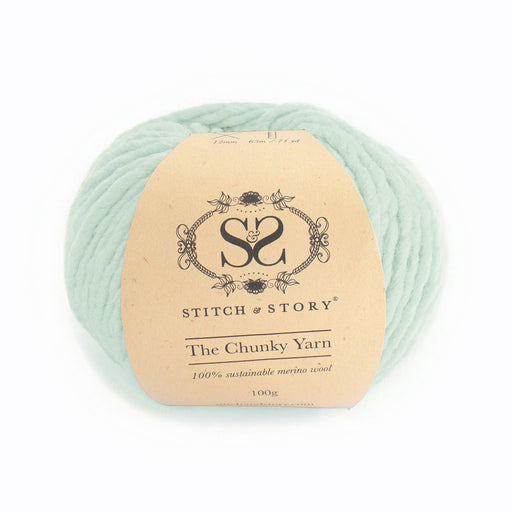 Stitch & Story The Chunky Wool - Iced Mint - 24 - The Village Haberdashery