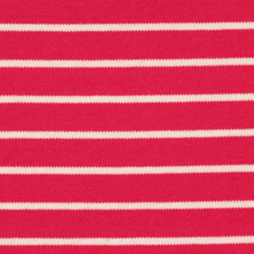 Bittersweet & Natural Stripe Organic Cotton Interlock Knit - The Village Haberdashery