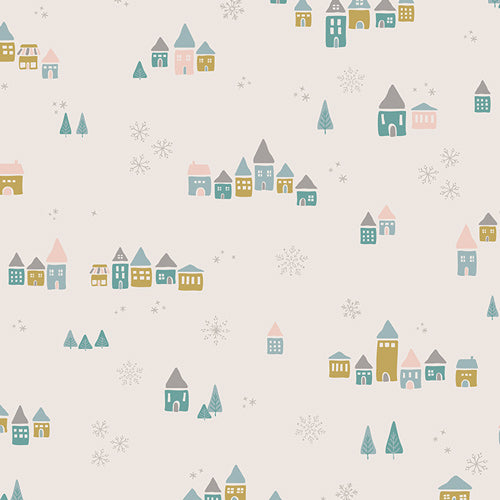 Snowdrift Magic Cotton from Little Town by Amy Sinibaldi - The Village Haberdashery