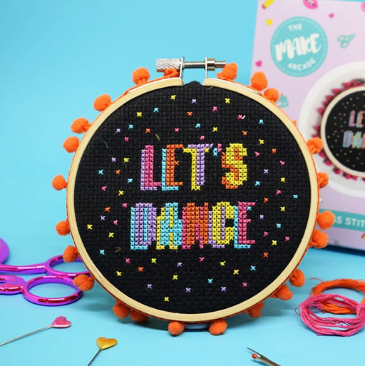 The Make Arcade Cross Stitch Kit - Let's Dance - The Village Haberdashery