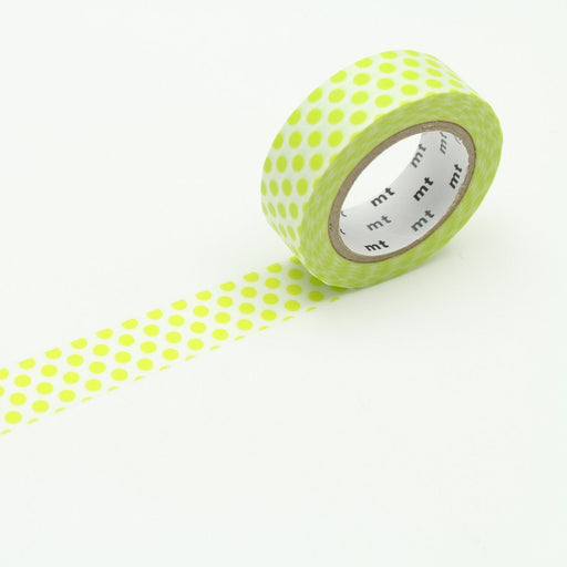 MT Washi Tape - Lime Dot - The Village Haberdashery
