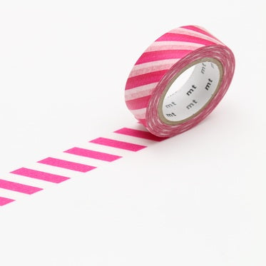 MT Washi Tape - Magenta Bias Stripe - The Village Haberdashery