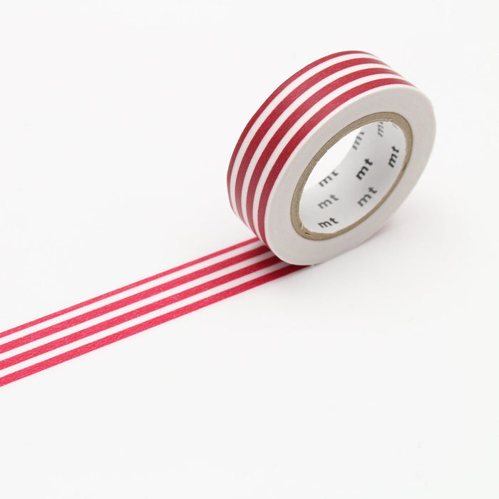 MT Washi Tape - Strawberry Stripe - The Village Haberdashery