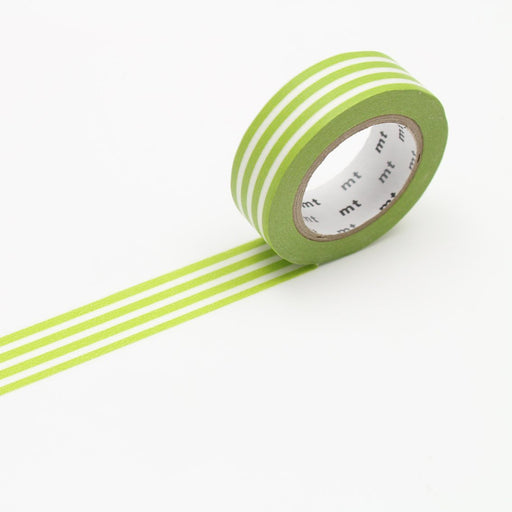 MT Washi Tape - Kiwi Stripe - The Village Haberdashery
