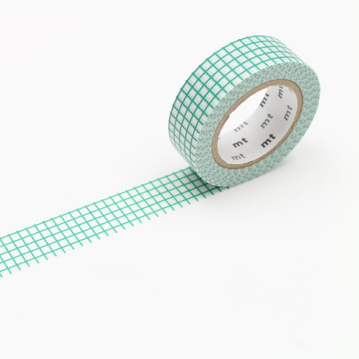 MT Washi Tape - Emerald Grid - The Village Haberdashery