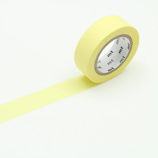 MT Washi Tape - Pastel Lemon - The Village Haberdashery