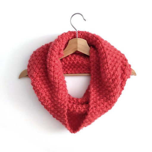 True Red Mateusz Snood Knit Kit by Stitch & Story - The Village Haberdashery