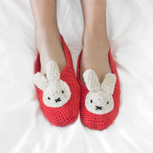 Tulip Red Miffy Slippers Crochet Kit by Stitch & Story - The Village Haberdashery
