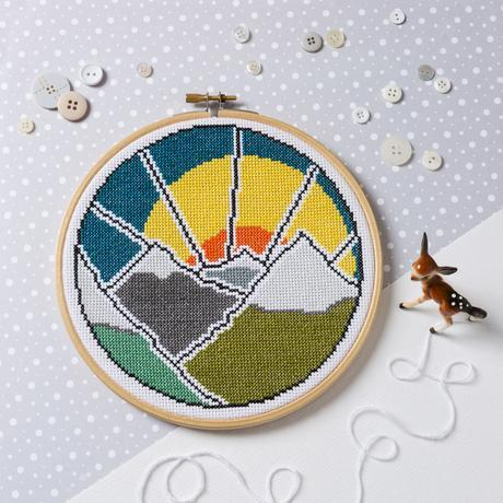 'Mountain Adventure' Cross Stitch Kit by Hawthorn Handmade - The Village Haberdashery