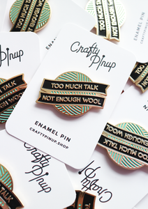 LIMITED EDITION 'Not Enough Wool' - Enamel Pin by Crafty Pinup - The Village Haberdashery