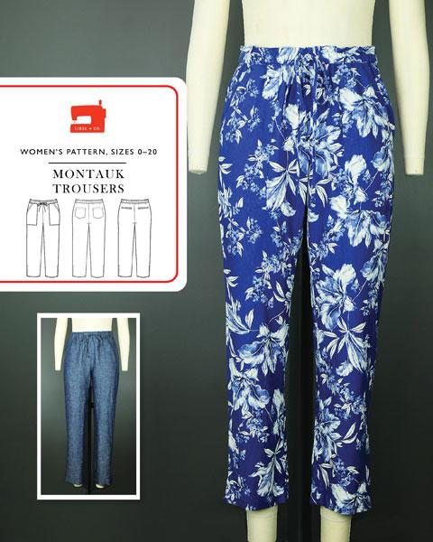 Patterns - Liesl + Co -  Montauk Trousers Sewing Pattern  - PDF