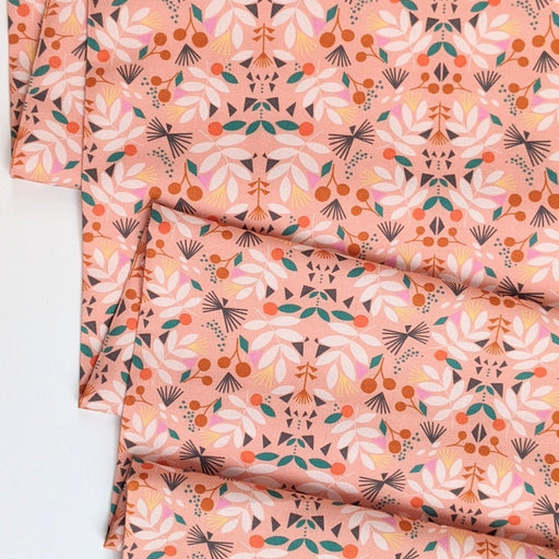 Peach Patterns Cotton from Our Planet by Bethan Janine - The Village Haberdashery