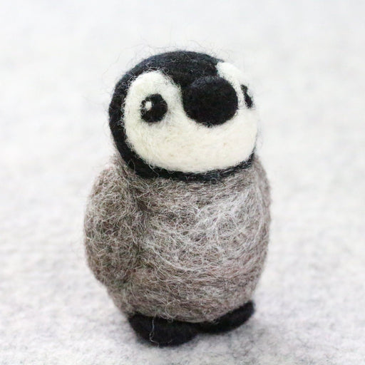 Baby Penguin Needle Felting Kit - The Village Haberdashery