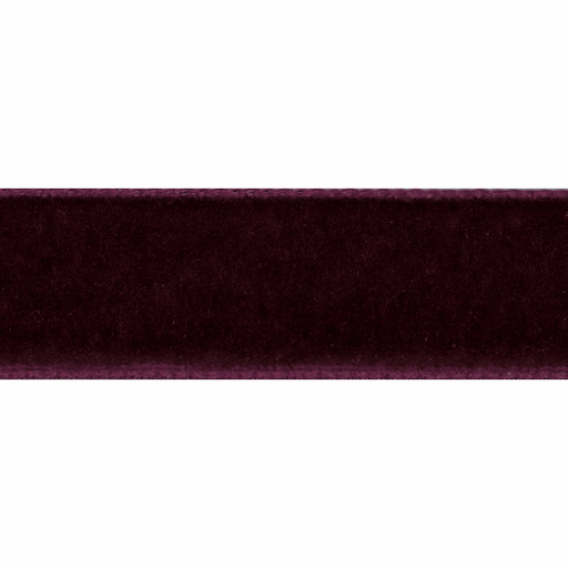 Velvet Ribbon - Deep Burgundy - 16mm - The Village Haberdashery