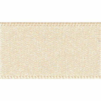 Satin Ribbon - Cream - 15mm - The Village Haberdashery